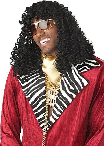 California Costumes Men's Supa' Freakin Wig,Black,One Size -