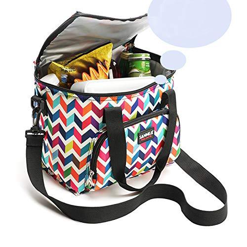 Bolso t/érmico nevera port/átil bolso para llevar comida al trabajo transporta alimentos bolsa para mantener la temperatura bolsa t/érmica porta alimentos Uvimark bolsa isot/érmica