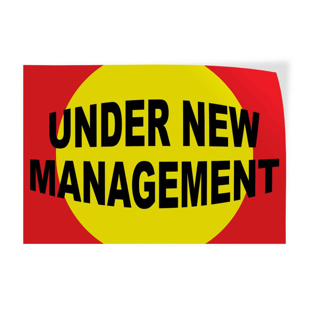 Decal Sticker Multiple Sizes Under New Management Orange White Business Under New Management Signs Outdoor Store Sign Orange 27inx18in Set of 5