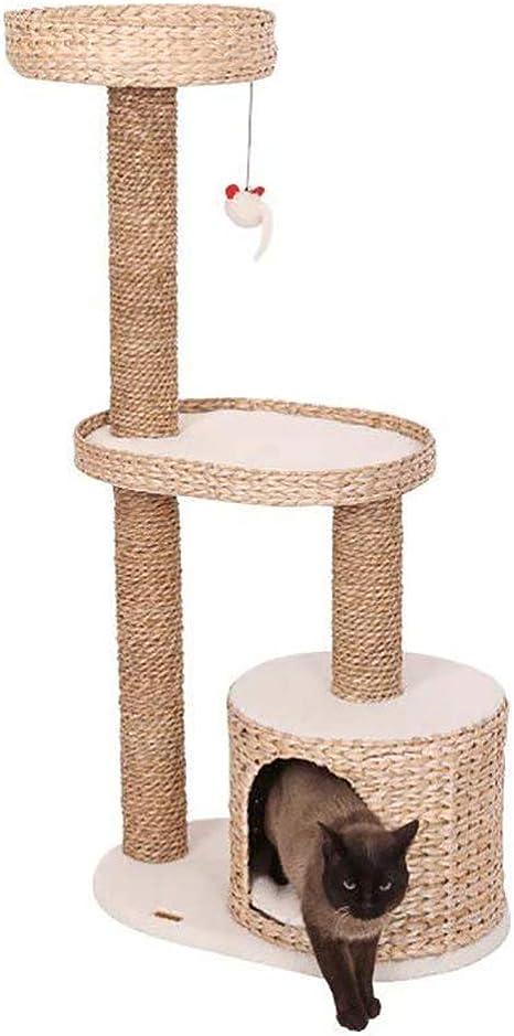 DJLOOKK Árbol rascador para Gatos Gato Escalada Marco Pucao Marco de Gato de Tres Capas Gato Arena Gato árbol Gato Saltando Taiwán ratán Gato Estante ladderhing: Amazon.es: Deportes y aire libre