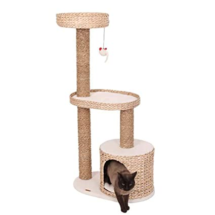 DJLOOKK Árbol rascador para Gatos Gato Escalada Marco Pucao Marco de Gato de Tres Capas Gato