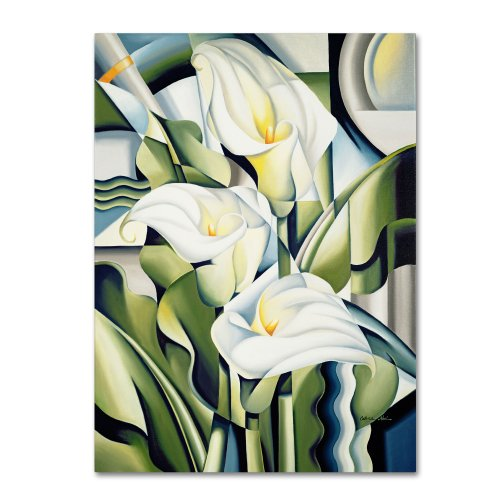 Cubist Lilies 2002 Artwork by Catherine Abel, 24 by 32-Inch Canvas Wall Art