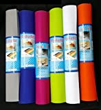 Aadya Multipurpose Textured Super Strong Anti-Slip Eva Mat - For Fridge, Bathroom, Kitchen, Drawer, Shelf Liner, Size 45X300Cm(Color Silver Grey)