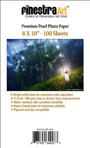"""8"""" X 10"""" 100 Sheets Premium Pearl Paper 300G 11.5Mil [Office Product]"""