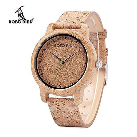 Relojes de Corcho Natural para Hombre y Mujer (Hombre): Amazon.es: Relojes