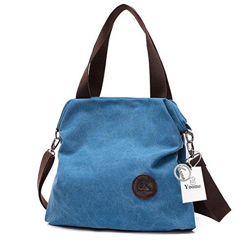 Crema para Bolso azul Beige Yoohobo0019 One Mujer al Hombro Yoome Size Cream F4xq7w