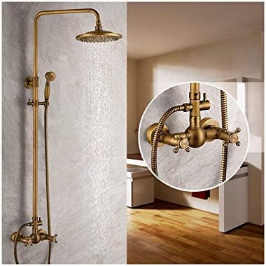 Shower faucet Antique Brass with 8 inch