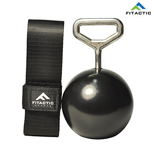 FITactic Rock Climbing Solid Training Cannonball Bomb Pull Up Power Ball Hold Grips with Straps