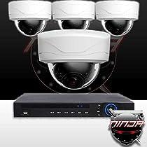 Ninja 4 Megapixel IP Mini Dome Camera 4CH Kit (White)