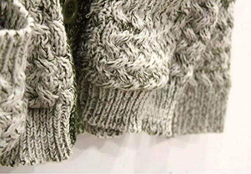 Qualità Sfumato Alta V Maglia A Giacca Lunga Donna Moda neck Outwear Giovane Manica Di Pullover Tasche Grün Anteriori Colore Imbottita Maglioni qwZXnI