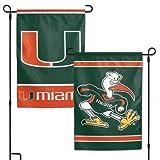 NCAA University of Miami Hurricanes 12 x 18 inch 2-Sided Garden Flag