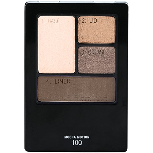 Maybelline New York Expert Wear Eyeshadow Quads, Mocha Motion, 0.17 oz.