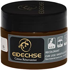 Basde Furniture Clinic Leather Recoloring Balm Renew, Restore & Repair Color to Faded and Scratched Leather 5 Color Choices, Works on Couches Car Seats Clothing Purses (Brown)
