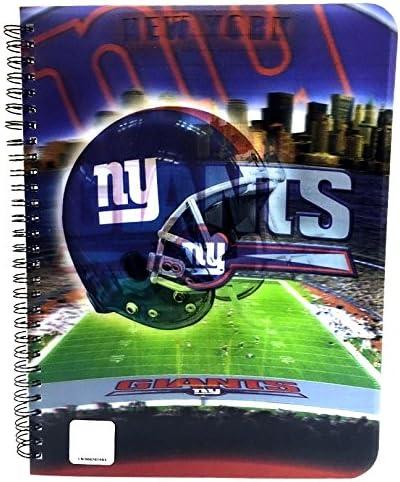 Brax NFL 3D 60 Sheets 1 Subject Notebook