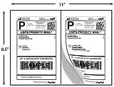 200 Half Sheet Shipping Labels Laser/Inkjet USPS UPS Fedex, Office Central
