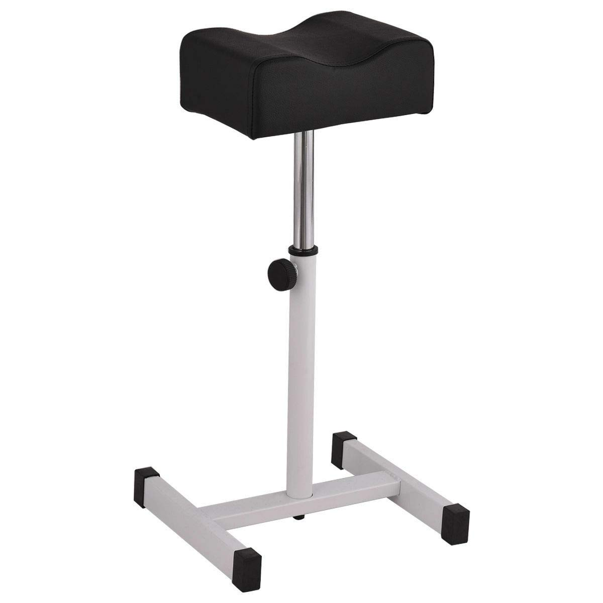 Siamchoice24 Equipment Stool Adjustable Nail Pedicure Black Manicure Footrest Stand Salon Spa