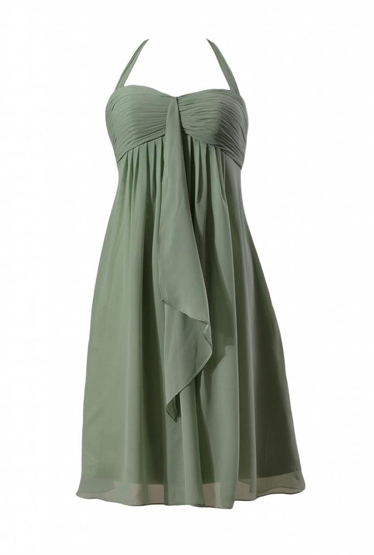 DaisyFormals Halter Evening Dress Short Empire Chiffon Bridesmaid Dress(BM892S)