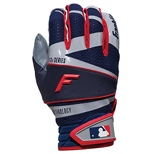 Franklin Sports Freeflex Pro Series Batting Gloves Gray/Navy/Red Adult...