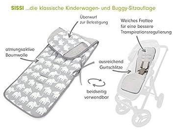 Sommer-Sitzeinlage Universal f/ür Kinderwagen Schonbezug Baumwolle antiallergische Sitzauflage Atmungsaktive Design:zeppelin denim Buggy Priebes Sitzauflage Sissi f/ür Kinderwagen
