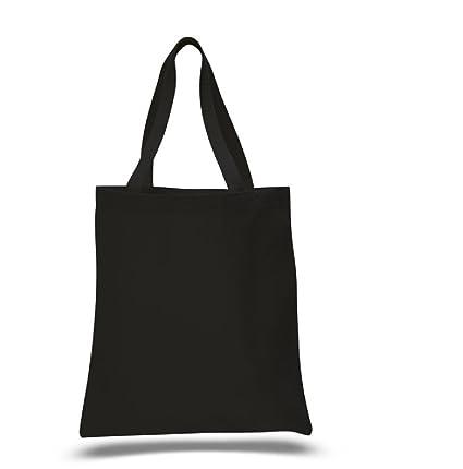 71aed2f231b Amazon.com: BLACK Colors 100% Cotton Heavy Canvas Promotional Tote ...
