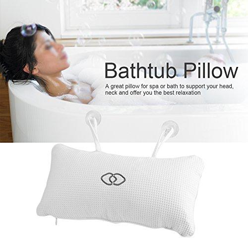 Buy Delaman Non Slip Bathtub Spa Pillow Bath Cushion Head