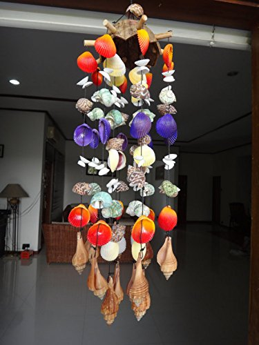 Coco Shell Wind Chime Stick - Orange Top]()