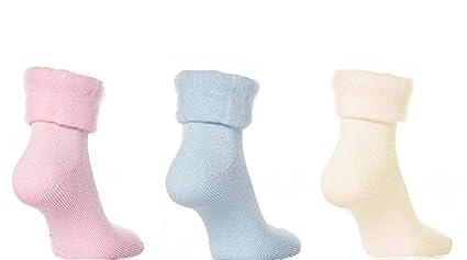 3 Pares De Mujer Perchado Térmico Cama Suaves y Cómodo Calcetines Talla 4-7
