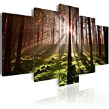 Image 200x100 cm (78,7 by 39,4 in) - Image printed on canvas - 5 pieces - NATURE 030213-33