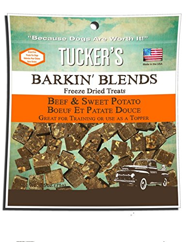 - Tuckers Barkin Blends Beef Liver and Sweet Potato Freeze Dried Treats 2.5 Ounces, Pack of 3