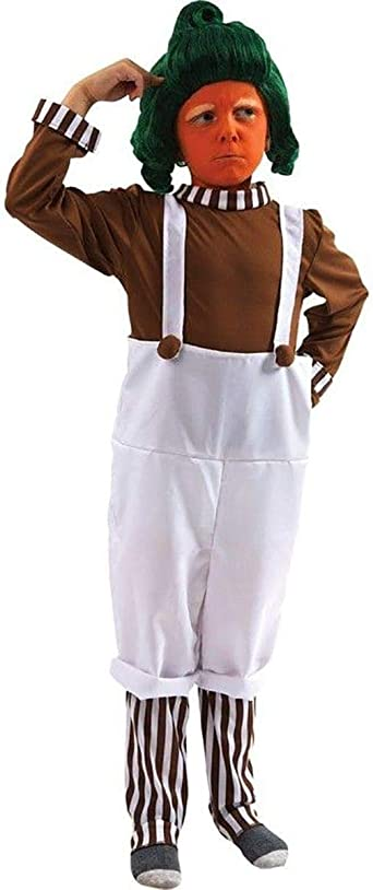 Factory Worker Oompa Loompa Book Day Week Childs Kids Boys Fancy Dress Costume