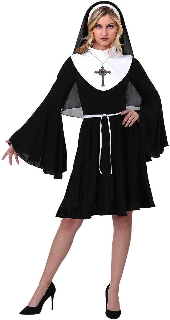 MM Disfraz De Halloween Cosplay Nun Witch Drama Easter ...