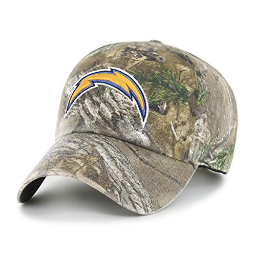 (NFL Los Angeles Chargers OTS Challenger Adjustable Hat, Realtree Camo, One)