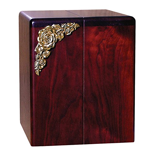 Wood Cremation Urn - Rosewood Roses Companion