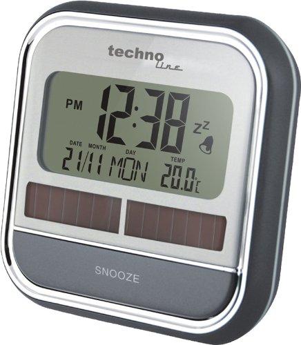 Plata Despertador AAA Gris TechnoTrade WQ 140 100 x 46 x 100 mm