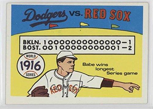 Brooklyn Dodgers Team; Boston Red Sox Team; Babe Ruth Brooklyn Dodgers Team, Boston Red Sox Team, Babe Ruth (Baseball Card) 1970 Fleer Laughlin World Series - [Base] -