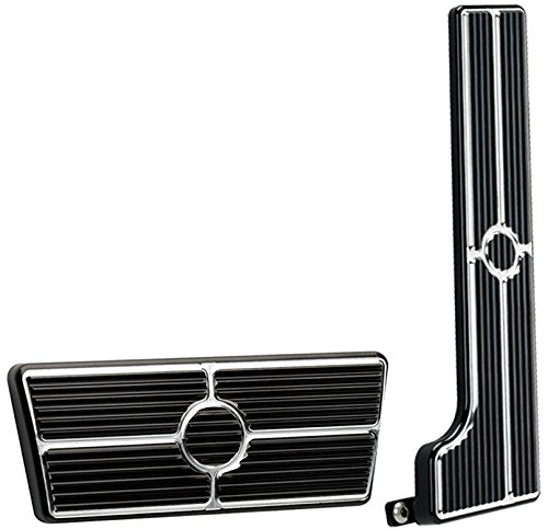 - NEW BILLET SPECIALTIES BLACK ANODIZED 58-67 CHEVY PEDAL KIT FOR AUTOMATIC TRANSMISSIONS INCLUDING GAS PEDAL ASSEMBLY AND BRAKE PEDAL PAD, 58-64 CHEVY II, BEL AIR, BISCAYNE, BROOKWOOD, IMPALA, NOMAD