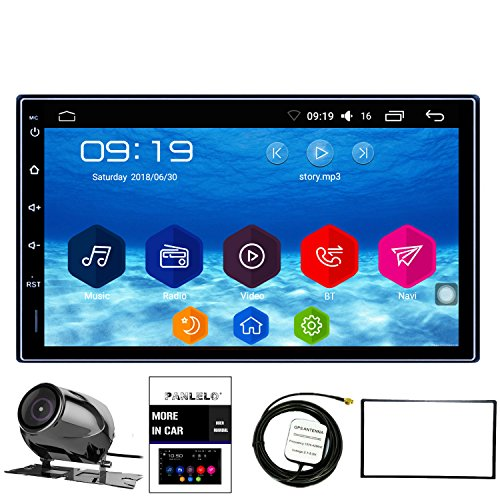Cheap Panlelo Car Stereo Android 6.0 1GB RAM 16GB ROM Rear view camera AM/FM/RDS Quad Core Auto Radio Head Unit 2 Din 7 inch 1024600 1080P HD Touch Screen Mirror Link BT SWC