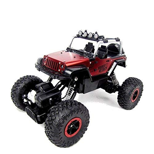 STOTOY RC Cars Off-Road Rock Crawler Racing Vehicle 2.4Ghz 4WD High Speed 1:18 Radio Remote Control Buggy (Red)