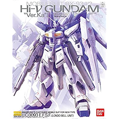 Bandai Hobby MG 1/100 RX-93-2 Hi-Nu Gundam Ver.Ka Char's Counterattack Model Kit: Toys & Games