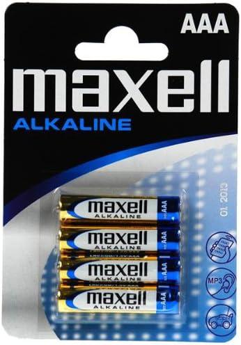 Maxell LR03-B4MXL - Pila alcalina AAA, 1.5V, pack de 4 unidades: Amazon.es: Electrónica