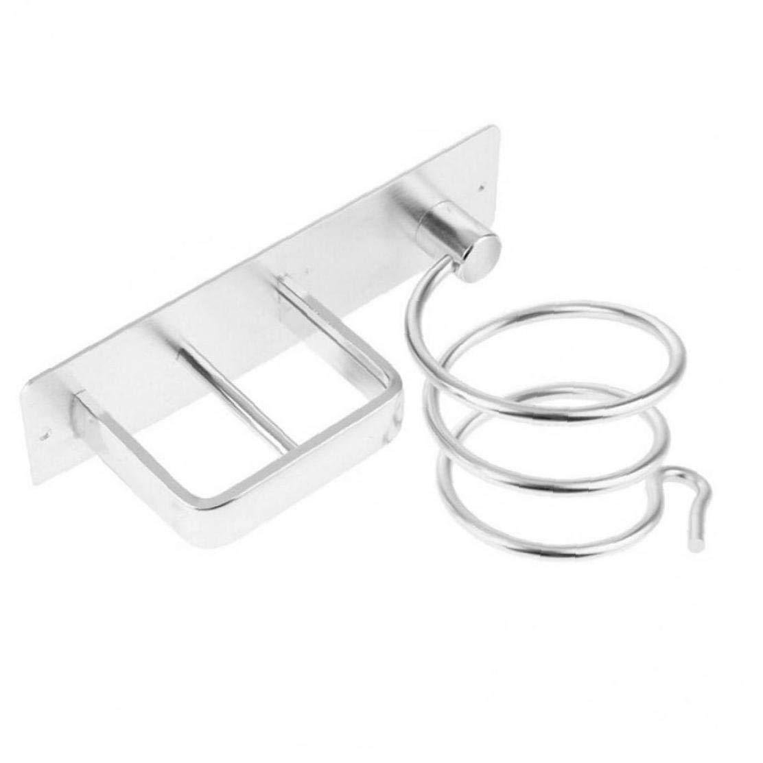 Aisoway De Pared de Aluminio Secador de Pelo montado en Rack Organizador Secador de Pelo enderezadora Juego de Soporte para la Plataforma de ba/ño Suministros de ba/ño