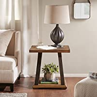 Weston X Base End Table Natural Multi/Gunmetal See below
