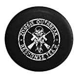 zombie response tire cover - Distressed - Zombie Outbreak Response Team Skull Guns Spare Tire Cover Black 35 Inch