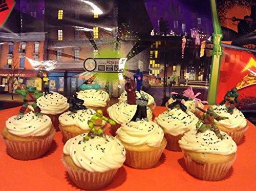 Nickelodeon Teenage Mutant Ninja Turtles Deluxe Figure Set of 12 Cake Toppers Cupcake Toppers Party Decorations by Teenage Mutant Ninja Turtles
