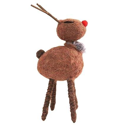GLOBEAGLE - Fieltro para niños, diseño de Ciervo y decoración navideña, 11 * 16cm, 220.00 * 100.00 * 40.00mm: Amazon.es: Hogar