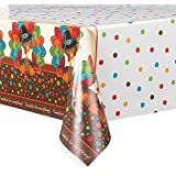 "Cute Turkey Thanksgiving Plastic Tablecloth, 84"" x 54"""