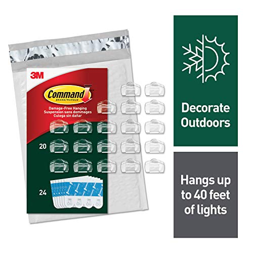 Command Outdoor Light Clips, 20 Clips, 24 Strips (AW017-20NA) - Easy to Open Packaging for $<!--$7.49-->