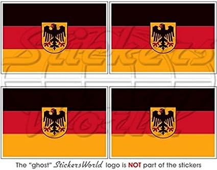 Deutschland Deutsche Staat Flagge Deutschland 5 1 Cm 50 Mm Vinyl Bumper Helmet Sticker Aufkleber X4 Garten