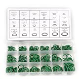 270Pcs 18 Sizes Green Rubber O Rings Air Conditioning HNBR Multi-size O Ring