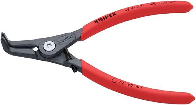 KNIPEX 49 41 A21 Alicate de precisión para arandelas Con protección contra la sobreexpansión gris atramentado recubiertos de plástico antideslizante 165 mm: Amazon.es: Bricolaje y herramientas